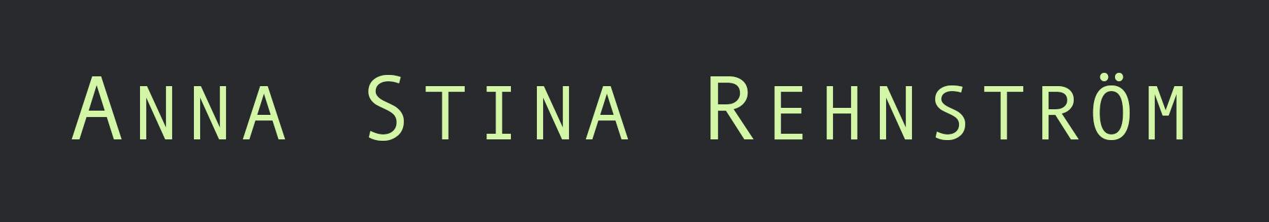Anna Stina Rehnström Logotyp
